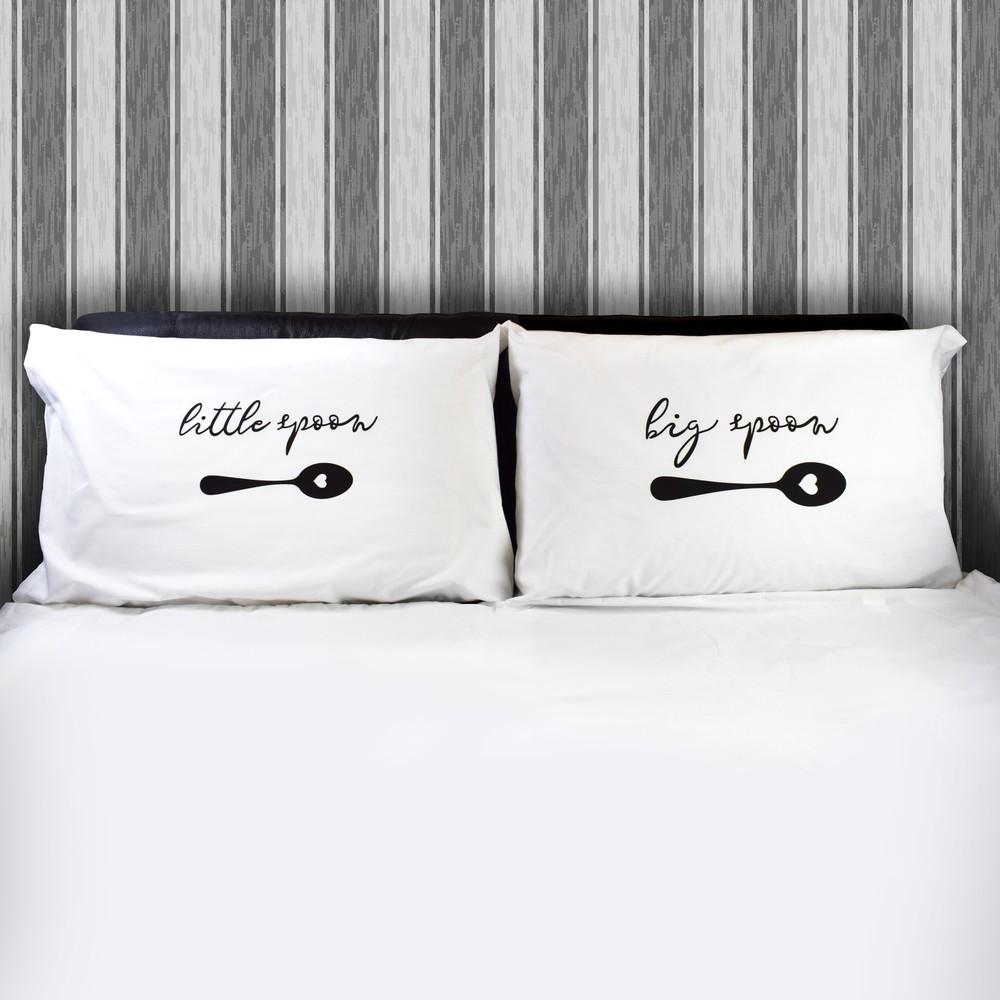 Big Spoon / Little Spoon Couples Pillow Case Pair