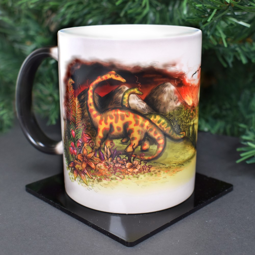 Dinosaur Extinction Colour Changing Mug