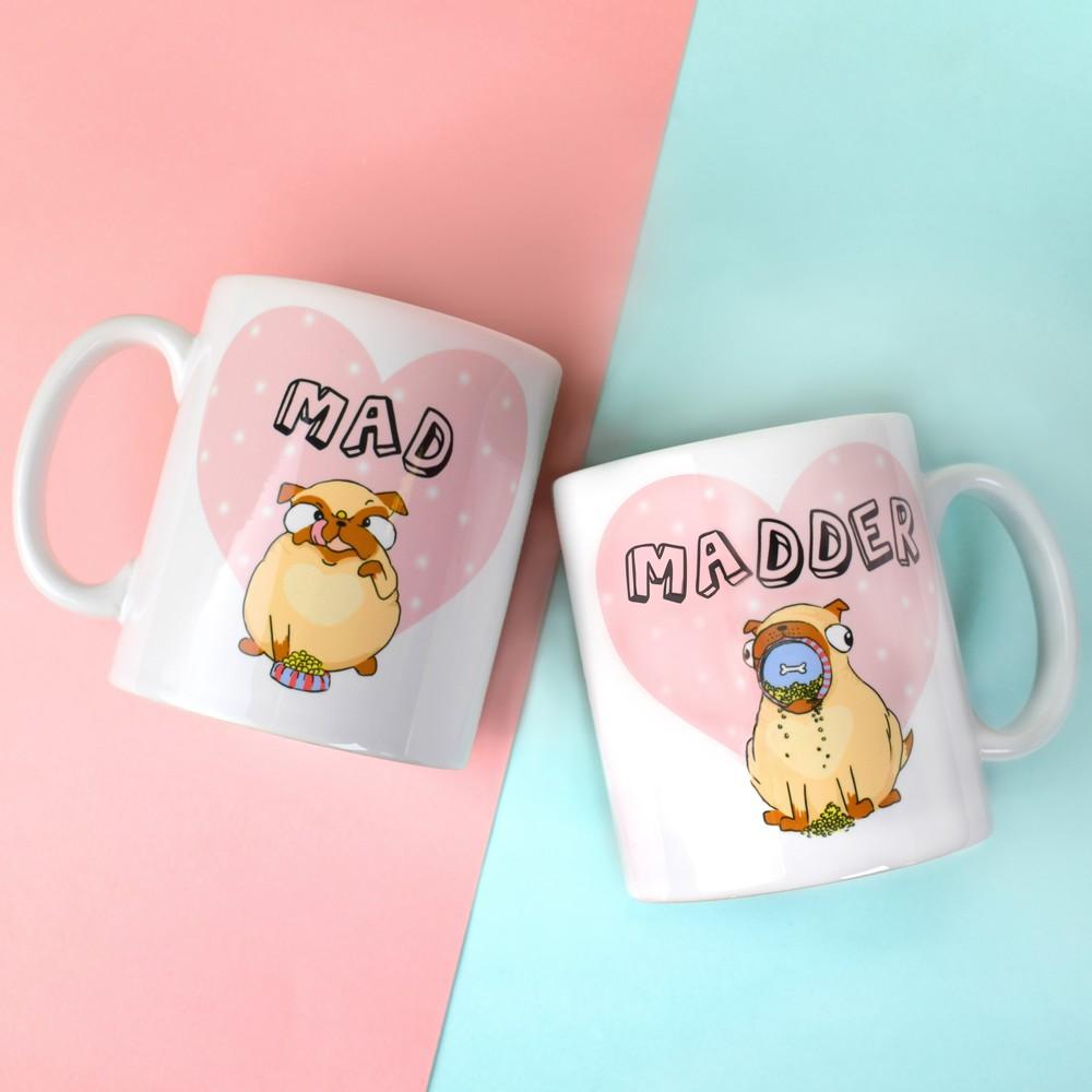 Animal Couple Mug Set (Mad & Madder Dogs)