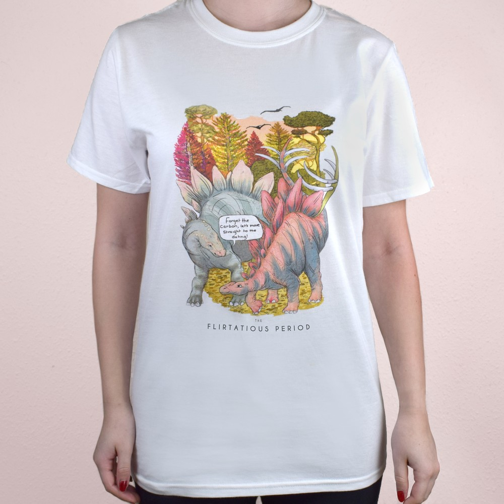 Flirtatious Period Unisex T-Shirts (Forget the carbon, Small)