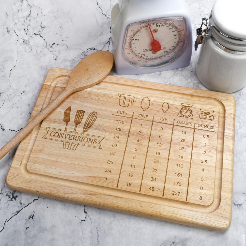 Measurement Conversion Chart Chopping Board