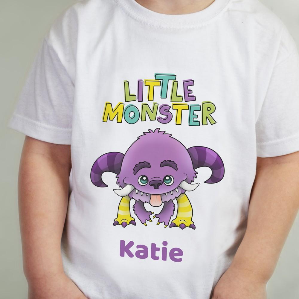 Personalised Little Monster T-Shirt